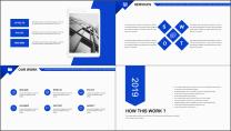 【你好2019】蓝色图文混排公司企业商务工作PPT示例7