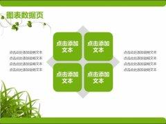 绿色清新商务PPT模板示例4