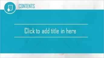 清新高端商务风格PPT模板示例3