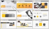 【黄白极简】图文混排在线教育商业合作方案示例4
