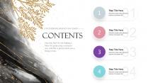 【蓝色水彩】金粉晕染艺术文化创意宣传展示提案模板示例3