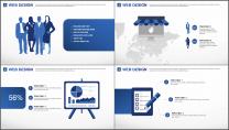 蓝色星球清新科技商务通用PPT模板示例6