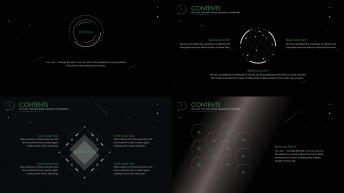 【炫酷 动态 星空】酷炫科技感的星空商务报告示例3