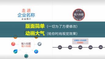 【动态】2015商务时尚企业介绍MG动画PPT模版