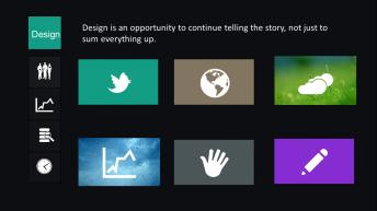 极简沉稳大气win8风格商务提案模板
