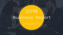 全页设计图文混排现代商务总结报告模板12