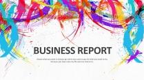 多彩水墨总结报告工作计划商务金融模板