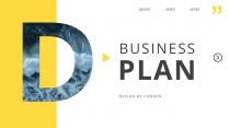 【简约商务】黄色大气企业商务杂志风PPT模板