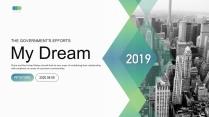 【商务中国】大气蓝绿渐变企业公司工作方案汇报PPT