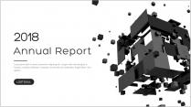 创意灰黑大气总结报告商务汇报模板04