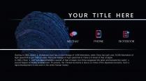 【蓝紫致炫】高端大气科技商务报告模板示例5