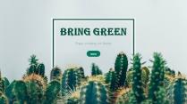 清新优雅绿色商务汇报模板