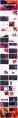 【撞色】炫彩时尚商务工作汇报4套合集示例6