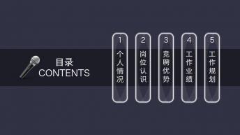 【动态】竞聘述职报告PPT模版示例4