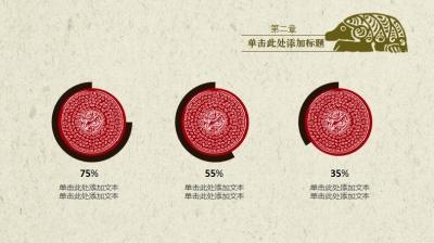 【大气中国风—青铜花纹ppt模板】-pptstore