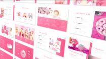 超甜粉色简洁时尚通用模板示例5