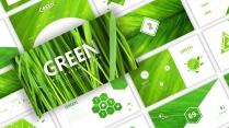 一份绿色有机无任何添加剂的健康环保模板&深浅双模式