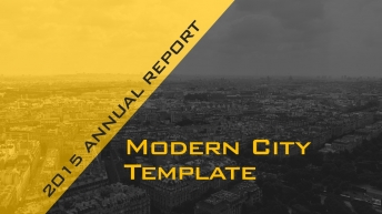 欧美风格城市建筑主题商务模板