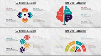 创意多色炫彩扁平可视化商业图表合25套【第五期】