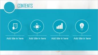 清新高端商务风格PPT模板示例2