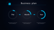 【商务深蓝】简约科技商业计划工作总结通用模板示例7