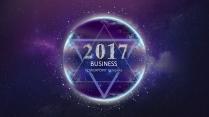 【动态】创意蓝紫色星际商务工作总结工作计划信息图表