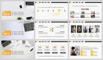 【黄白极简】图文混排在线教育商业合作方案示例5