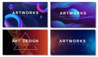 【抽象創意】簡約商務通用模板(含四套)