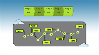【yjy】清新绿色简约欧美风商务PPt模板示例3