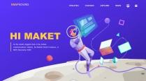 创意太空科技互联网公司企业工作商务PPT