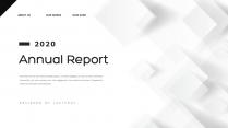 【创意几何】经典黑灰总结报告商务展示模板示例2