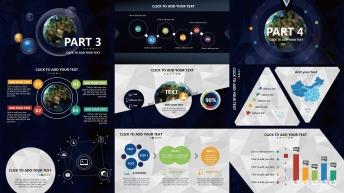 【全球化】大气炫目视觉 实用演示提案模板示例4
