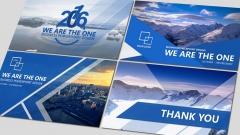 蓝色工作报告PPT模板合集【四】含四套