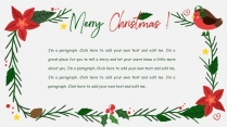 Merry Christmas!圣诞节卡通模板示例3