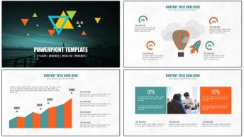 2015创意图文混排现代商务总结汇报PPT模板02