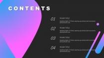 【渐变蓝紫】高端大气色块商务报告策划模板示例3