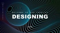 【抽象艺术】现代科技高品质商务汇报工作总结模板