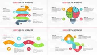 創意多彩現代商務可視化信息圖表25套【第五期】