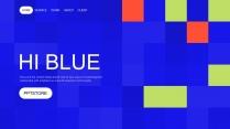 蓝色科技互联网公司企业工作PPT