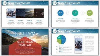 欧美杂志排版简洁高端实用ppt模板21