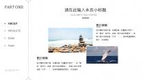 【欧美时尚导航式风格汇报模板13】简洁创意海洋风示例4