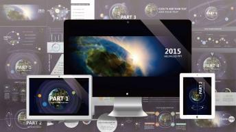 【全球化】大气炫目视觉 实用演示提案模板示例2