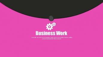【粉色风暴】【时尚个性创意商务提案汇报模板】