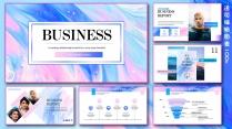 【欧美商务系列】大气图文混排粉色油彩模板