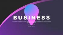 【渐变蓝紫】高端大气色块商务报告策划模板