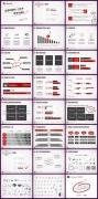 红灰经典配色创意手绘独特风格不失商务感通用总结模版示例7