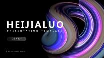 【漩涡波浪】视觉创意营销时尚立体提案大气模板