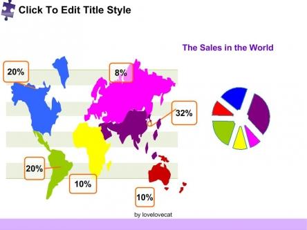 【简洁拼图 企业年度总结 分析报告ppt模板】-pptstore