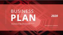 【簡約商務】紅色歐美工作匯報雜志風PPT模板