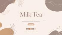 【耀你好看】奶茶色素雅简约模板
